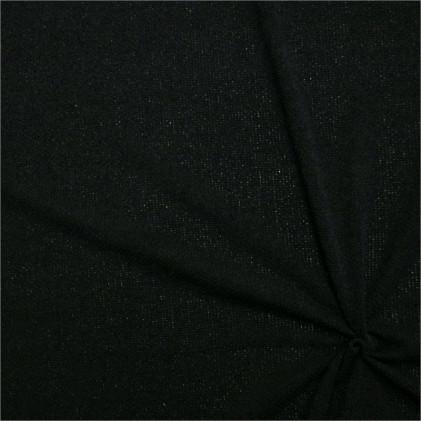 Tissu maille tricot uni Verona Noir