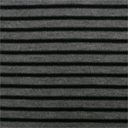 Tissu lainage Dora Gris / Noir