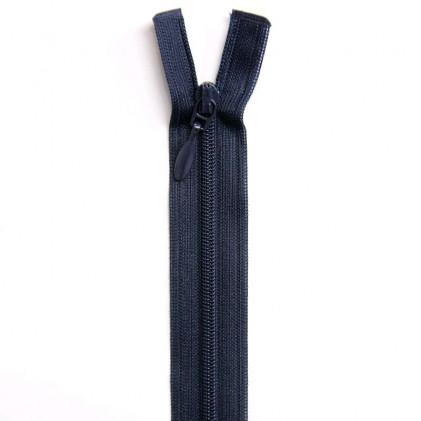 Fermeture Eclair nylon séparable 55 cm Bleu marine