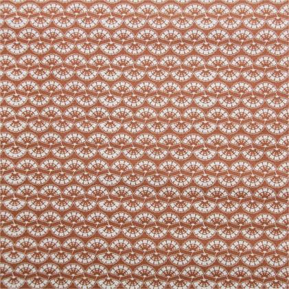 Tissu coton imprimé Zhihao Terre / Orange