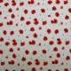 Tissu lin imprimé Poppy Rouge