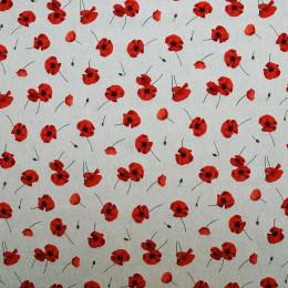 Tissu lin imprimé Poppy