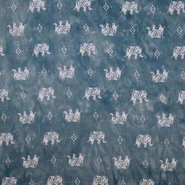 Tissu viscose Tie and Die Eléphant