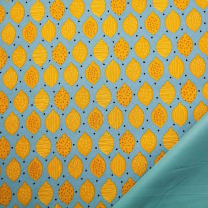 Tissu outdoor Citrons
