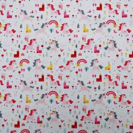 Tissu coton Oeko-Tex imprimé Licorne