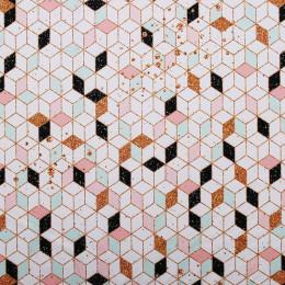 Tissu lycra PANDALOVEFABRICS Cubes Glitter