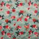 Tissu Pul imprimé PANDALOVEFABRICS Rosa Vert Menthe