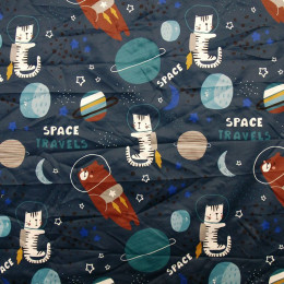 Tissu Pul PANDALOVEFABRICS imprimé Space Travels
