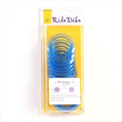 Oeillets rideau 40 mm Bleu