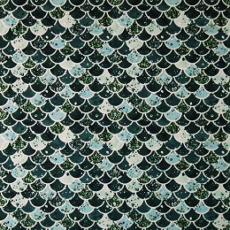 Tissu lycra PANDALOVEFABRICS Ecailles Glitter