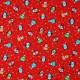 Tissu patchwork Noël Pingouins Rouge