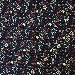 Tissu coton Noël Oeko-Tex Etoiles Glitter