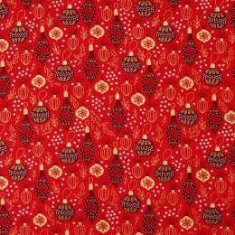 Tissu coton Noël Oeko-Tex Pampilles