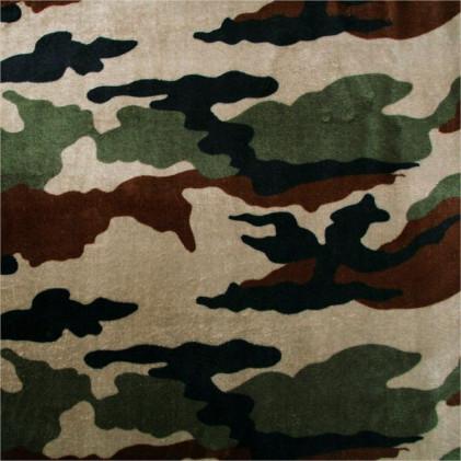 Tissu polaire imprimé Camouflage