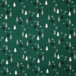 Tissu coton Noël Sapin glitter