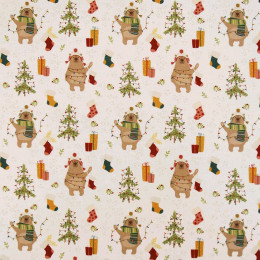 Tissu coton Noël BIO Kodiak