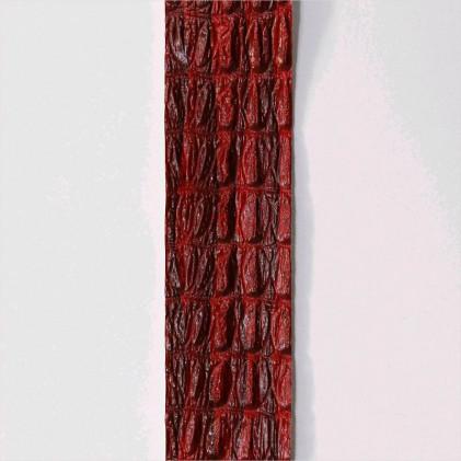 Ruban galon plat simili 30 mm Bordeaux