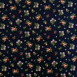 Tissu velours milleraies Oeko-Tex Fleurs