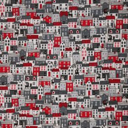 Tissu patchwork Noël Scandi Houses