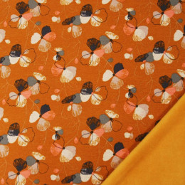 Tissu molleton jogging Oeko-Tex Fleurs