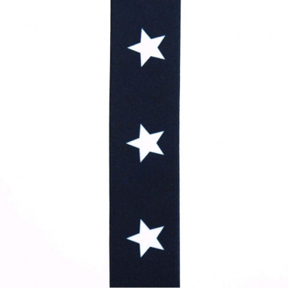 Elastique à ceinture Stars 40 mm Bleu marine