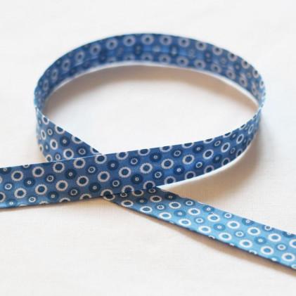 Biais fantaisie Disque Bleu