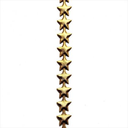 Ruban de Noël guirlande d'étoiles Or