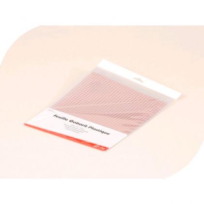 Feuille gabarit plastique Transparent