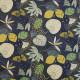 Tissu coton Oeko-Tex Zoumba Bleu marine / Vert