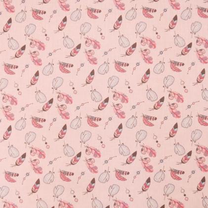 Tissu coton Oeko-Tex Wiham Rose