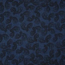 Tissu jean's imprimé Cachemire