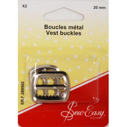 Boucles métal 20 mm Argent