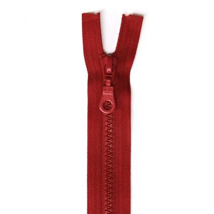 Fermeture Eclair plastique séparable 30 cm Rouge