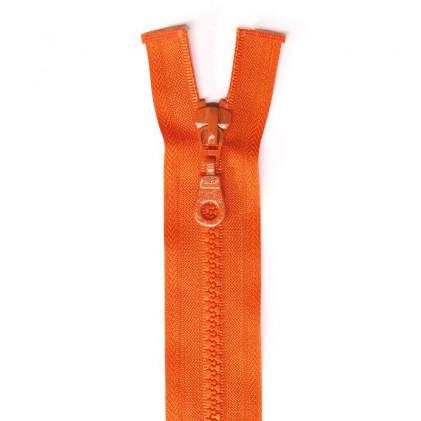 Fermeture Eclair plastique s  éparable 55 cm Orange