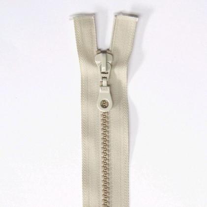 Fermeture Eclair plastique s  éparable 55 cm Beige lin