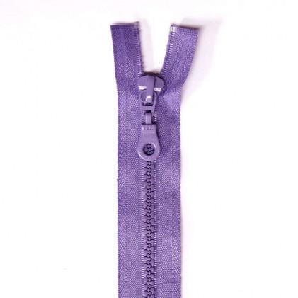Fermeture Eclair plastique s  éparable 55 cm Parme