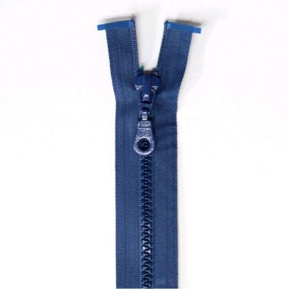 Fermeture Eclair plastique s  éparable 55 cm Bleu
