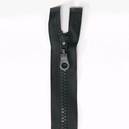 Fermeture Eclair plastique s  éparable 55 cm Gris anthracite