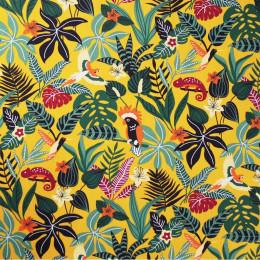 Tissu coton imprimé Oeko-Tex Caraïbes Jaune